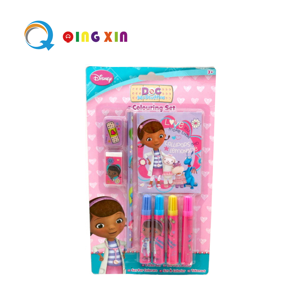 8PCS Stationery Set with Mini Notebook Markers Pencil
