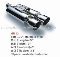 universal muffler auto exhaust system