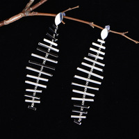 2018 new high quality silver fish earring latest wholesale fishing korea fish jewelry