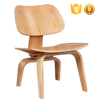 Hot Selling Famous Designer European Style Plywood Living Room Furniture  Bent Wood Chair
