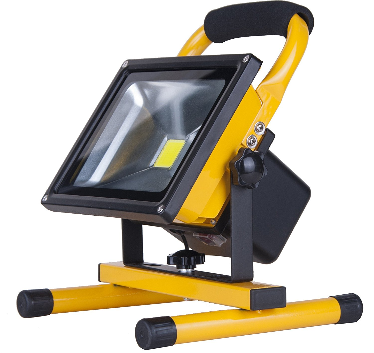 Portable recharge flood light 20W 1PCS Die-cast aluminium body & Taiwan Chip IP65 & AC110-240V DC8.4V-1000mA adaptor & 7.4V 8800mAh battery for your outdoor lighting space