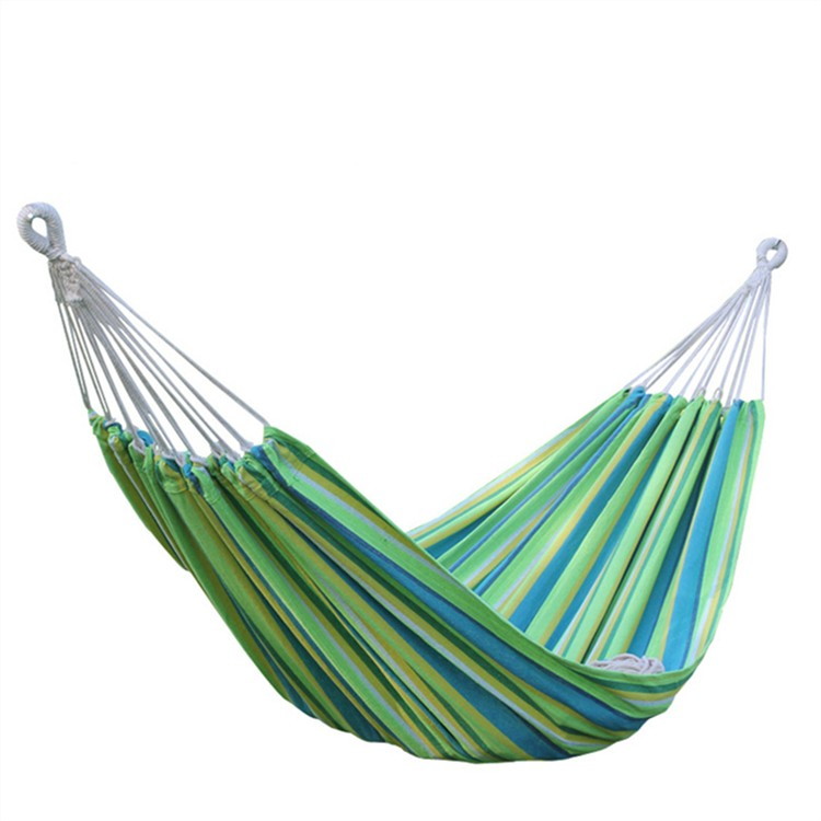 Wholesale Outdoor leisure hammock hanging chair cotton camping swing dormitory swing bed hammock