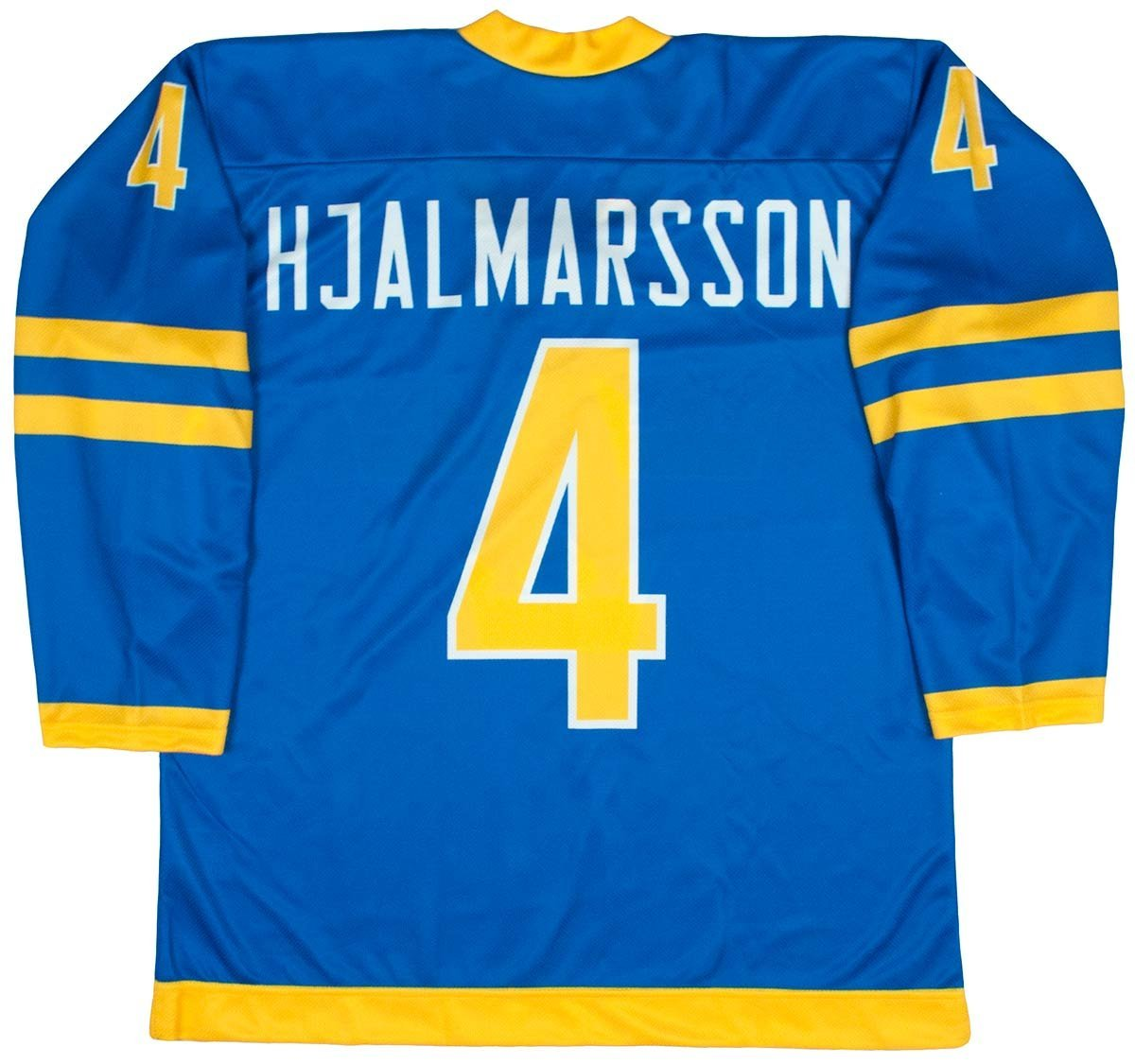 100% authentic d0311 8f0a2 Buy Team Sweden Niklas Hjalmarsson Yellow Hockey Jersey in ...