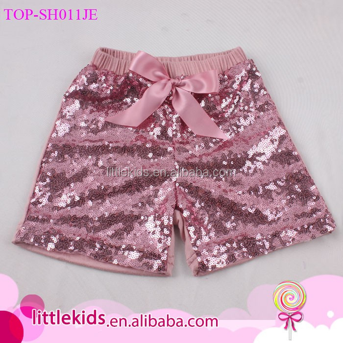 2017 Best Selling Baby Sequin Shorts Girls Sparkling Training Pants