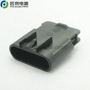 6 way waterproof black male auto Volkswagen electronic Gas Accelerator Pedal Connector