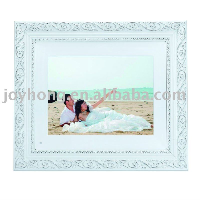 10.4 inch wood digital photo frame with multi-function