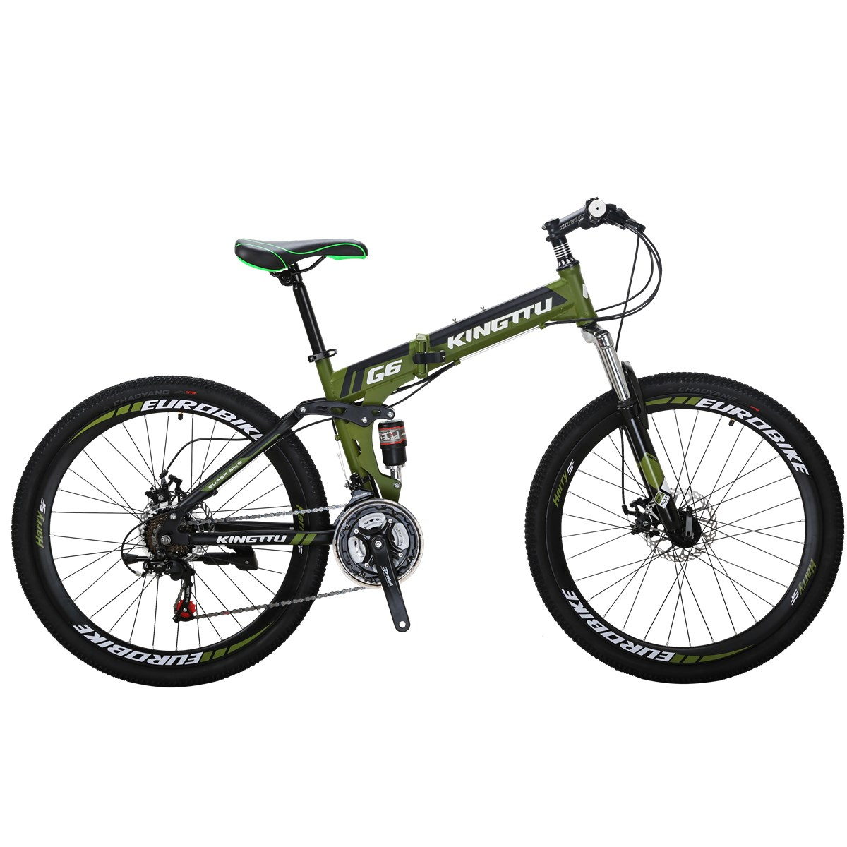 "Mountain Bike 26/"" Folding Bikes 21 Speed Bicycle Full Suspension MTB Disc Brakes"