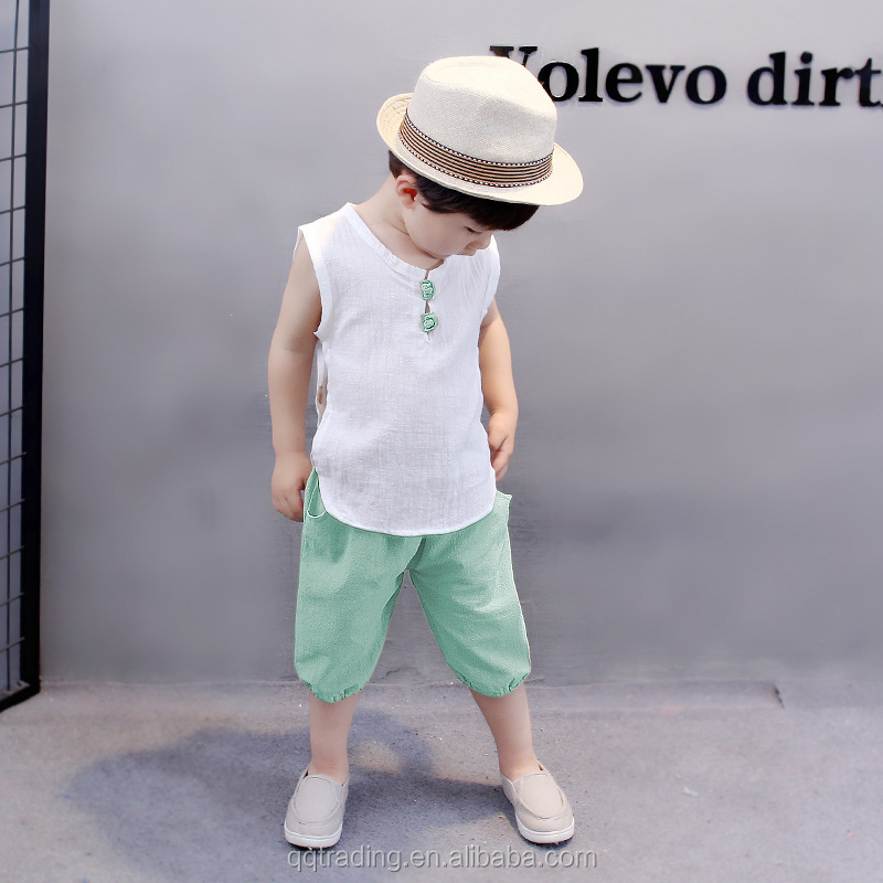 Alibaba.com / Hot sale cotton Korean short sleeve boy set summer cool baby boy clothes set new design style cheap newborn baby clothing set