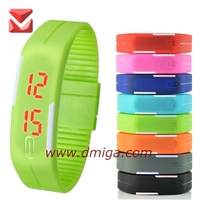 China waterproof Touch square dial Digital Jelly Silicone Bracelet LED Sports Wrist Watch with cheapest price