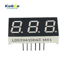 Good commodity 3 digit small 0.4inch common anode red color 7 segment led display