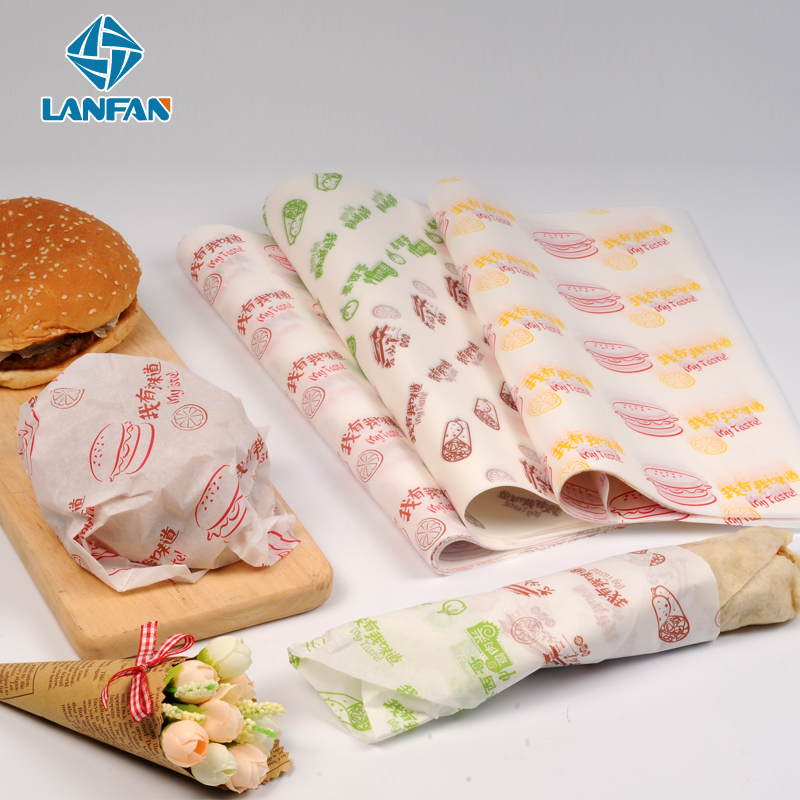36Cm * 36Cm Oil Proof Chicken Rolls Geschenkpapier