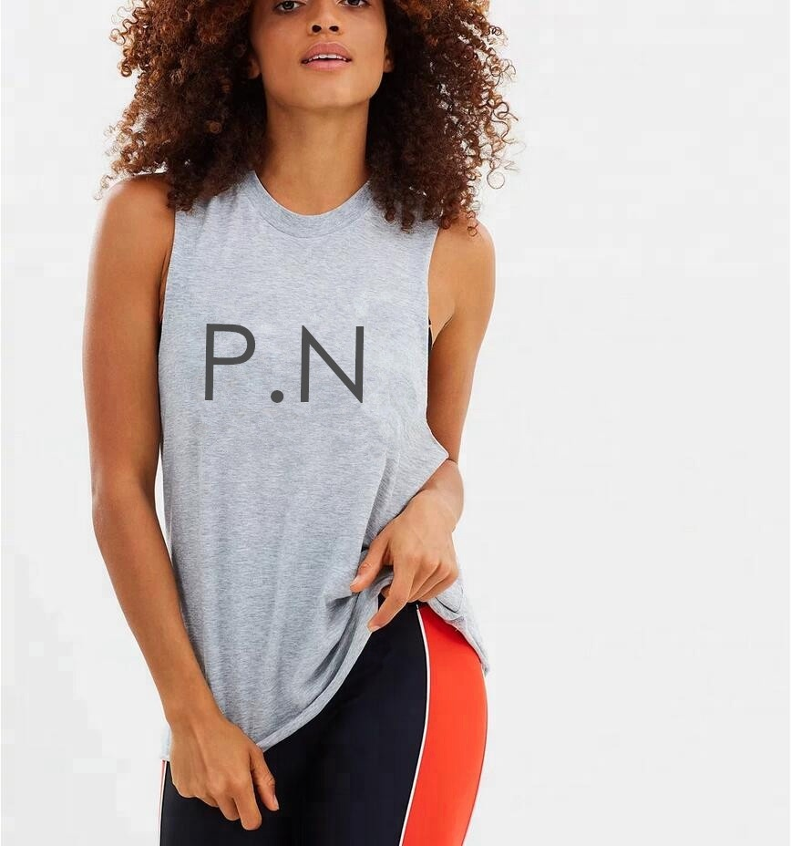 PATON Factory Custom Sleeveless muscle style Raw-hemline <strong>women</strong> sport <strong>tank</strong> <strong>top</strong>