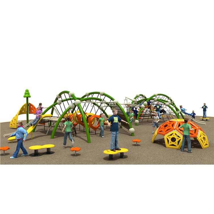 Gran multifuncional entrenamiento físico escalada gimnasio al aire libre diapositiva equipo al aire libre zona de juegos para los niños