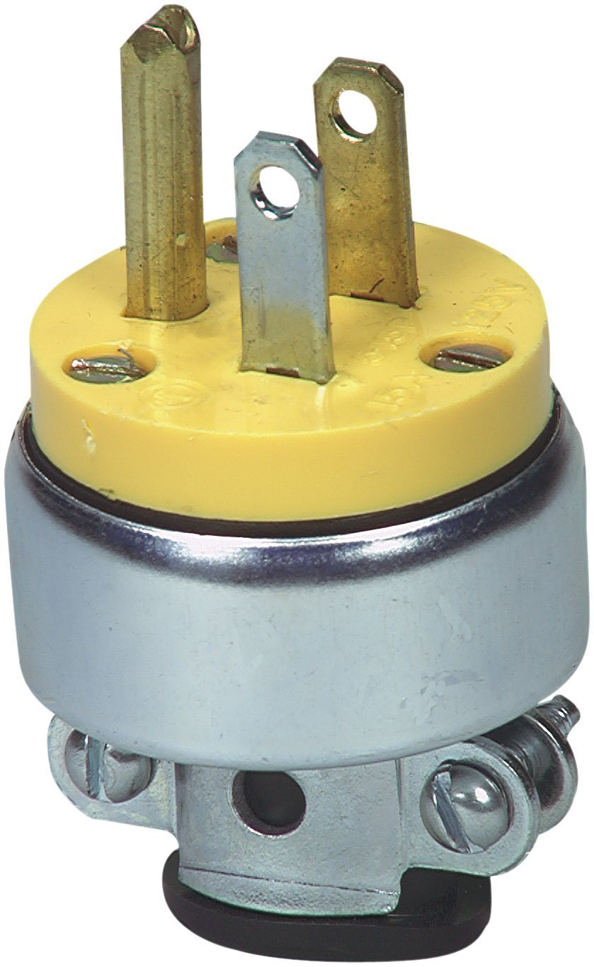 Buy Cooper Wiring 2867 Box Armored Cord Plug 3 Wire Grounded In Eaton 15 Amp 2 Pole 125 Volt