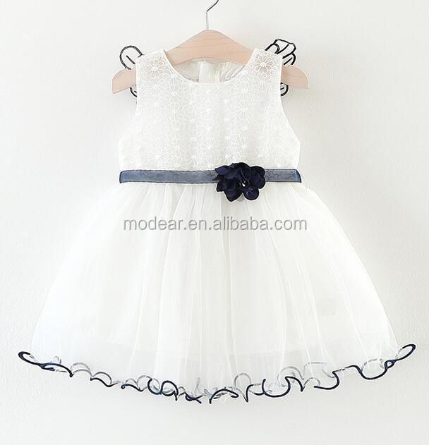 wholesale baby clothes summer elegant white lace ruffles children frock dress