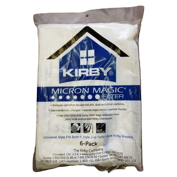 JS-R037 Kirby Part#204808 /204811 Kirby Style F HEPA Filtration Vacuum Bags for Sentria Models - 6/Package
