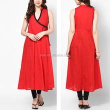 Fashion ethic style western clothing wear dress women long plain kurti