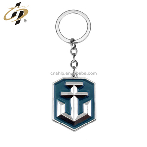 Wholesale classical sailor custom anchor embossed metal keychain