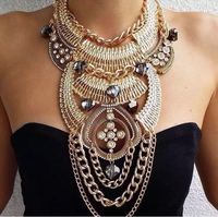 Fashion show New York star costume alloy diamond statement necklace jewelry