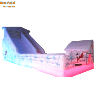 giant LED white inflatable Skiing slide for outdoor sport