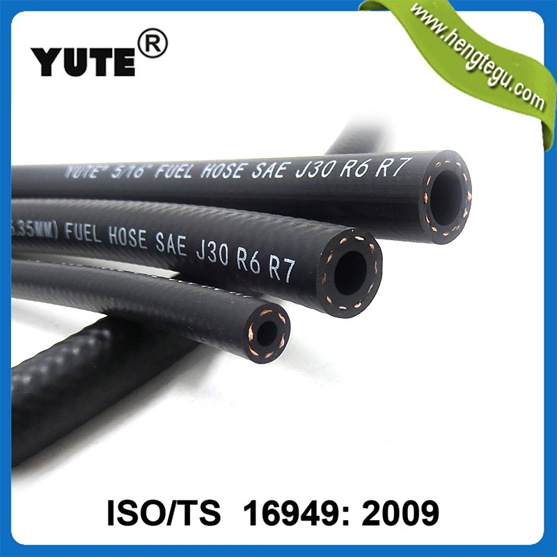 YUTE 1/2 inch sae j30r7 high pressure e85 fuel hose with TS 16949