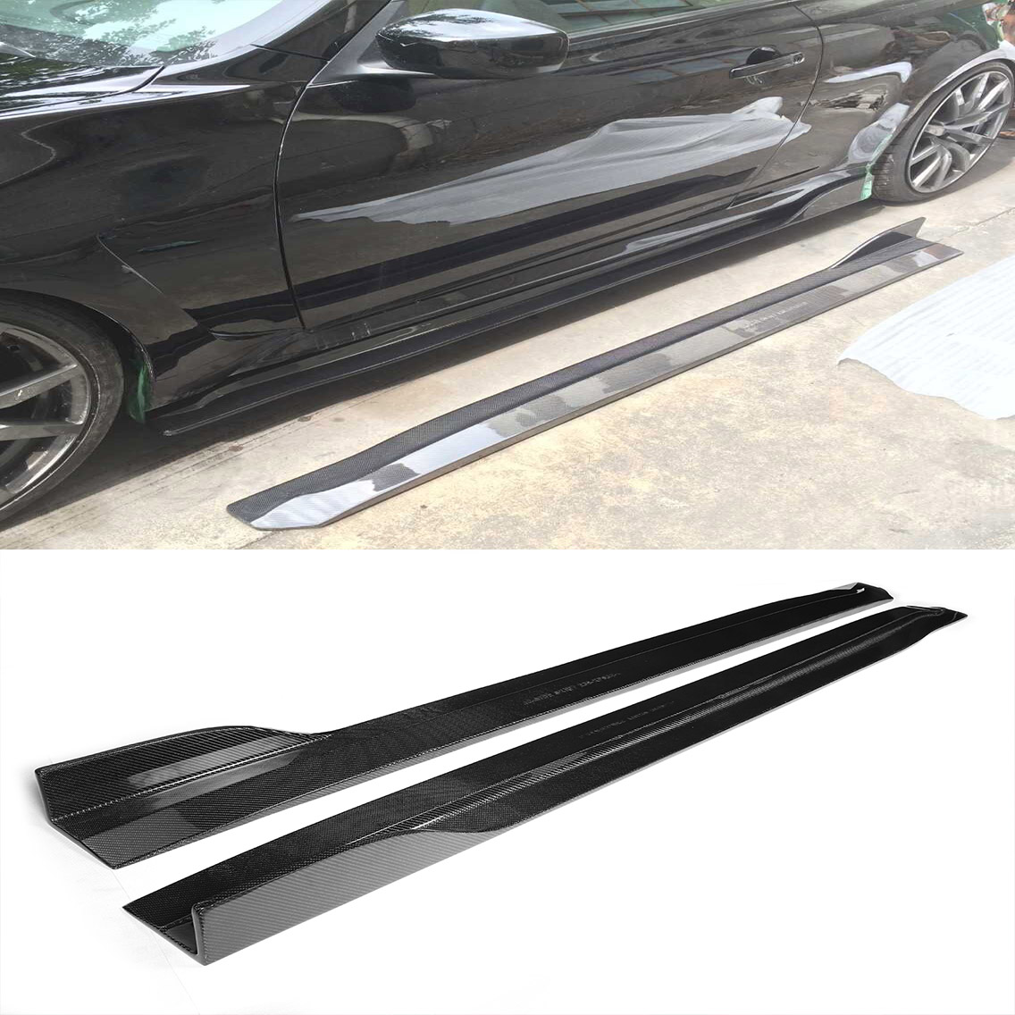 Carbon Fiber G37 Jc Styling Auto Side Skirts For Infiniti