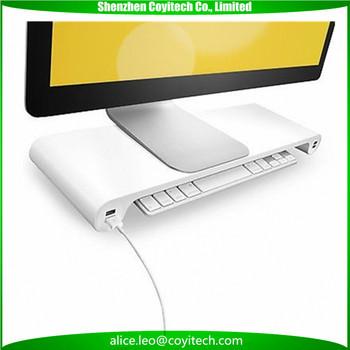 desktop computer tisch monitor lade vorgelegt stehen fr imac - Computertisch Fr Imac 27