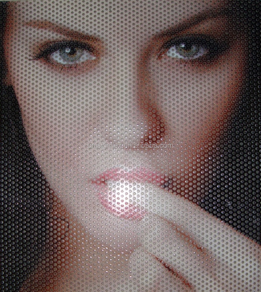 Unisign One Way Vision window film perforated vinyl film