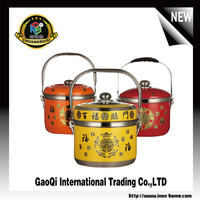 Wholesale stainless steel insulated casseroles hot pot