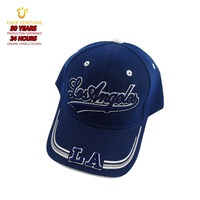 3D embroidered los Angeles 6 panel hard front pre curved brim high quality sports baseball cap