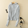 PK18CH011 lady cashmere pullover hoodies woman loose sweater