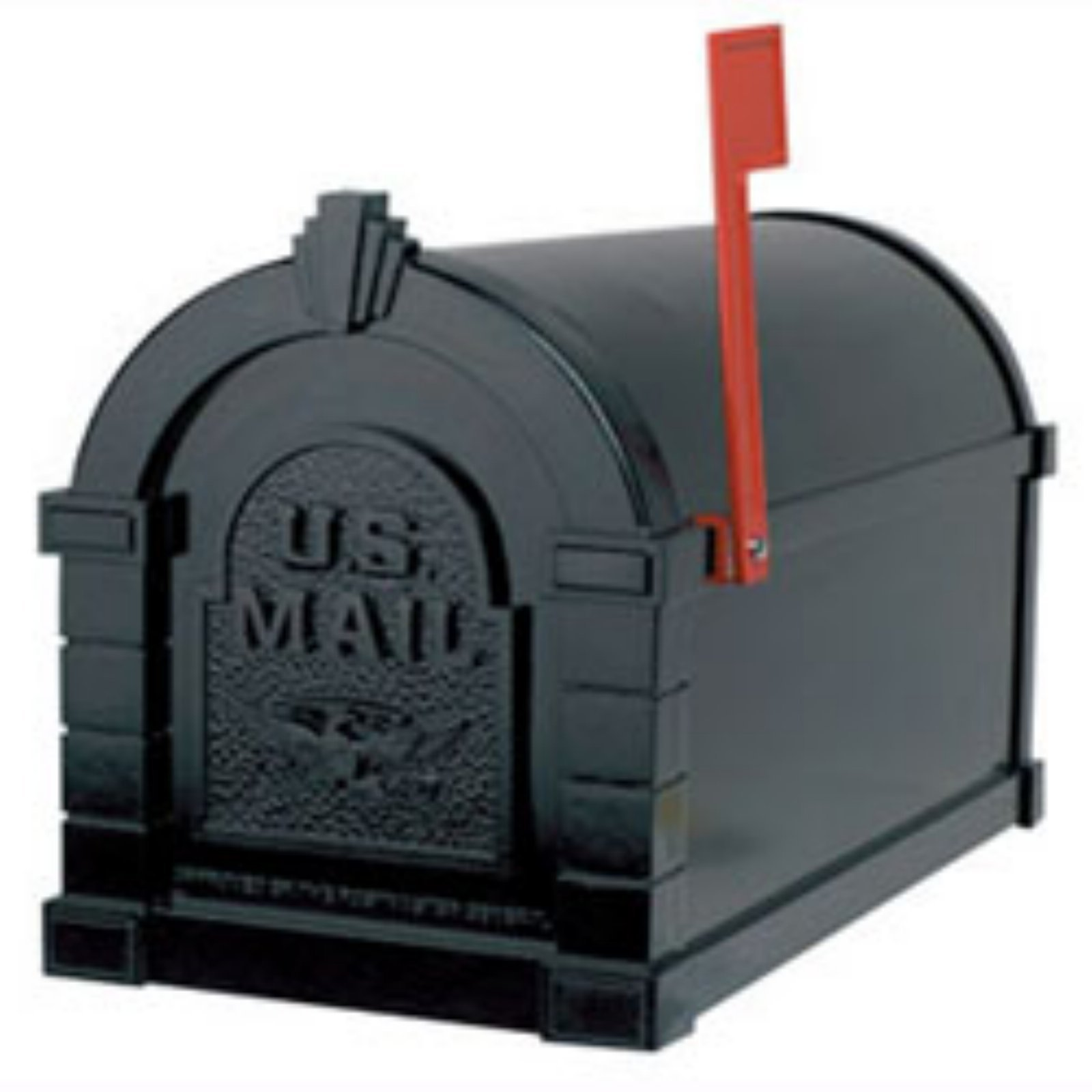 Gaines Red Flag Series Keystone Mailbox in Black
