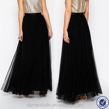 a29c75dbc7 china wholesale tulle maxi skirts high waist sexy maxi skirt girls black  tulle tutu skirts