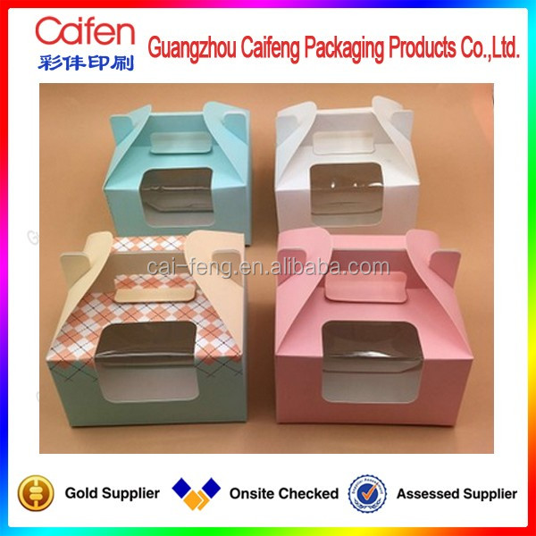 handle paper box gift box with a window