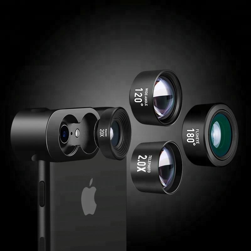 2018 Best smartphone external cell phone camera zoom lens attachment for iphone/ iphone x