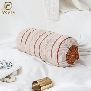 Best Sale Home Decoration Bolster Pillow Cover knitted Indian Cushion