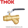 High Quality DN15 brass y filter ball valve