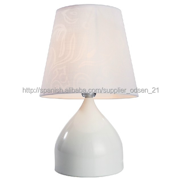 Chinese soalr hotel white fashionable nail office table lamp led