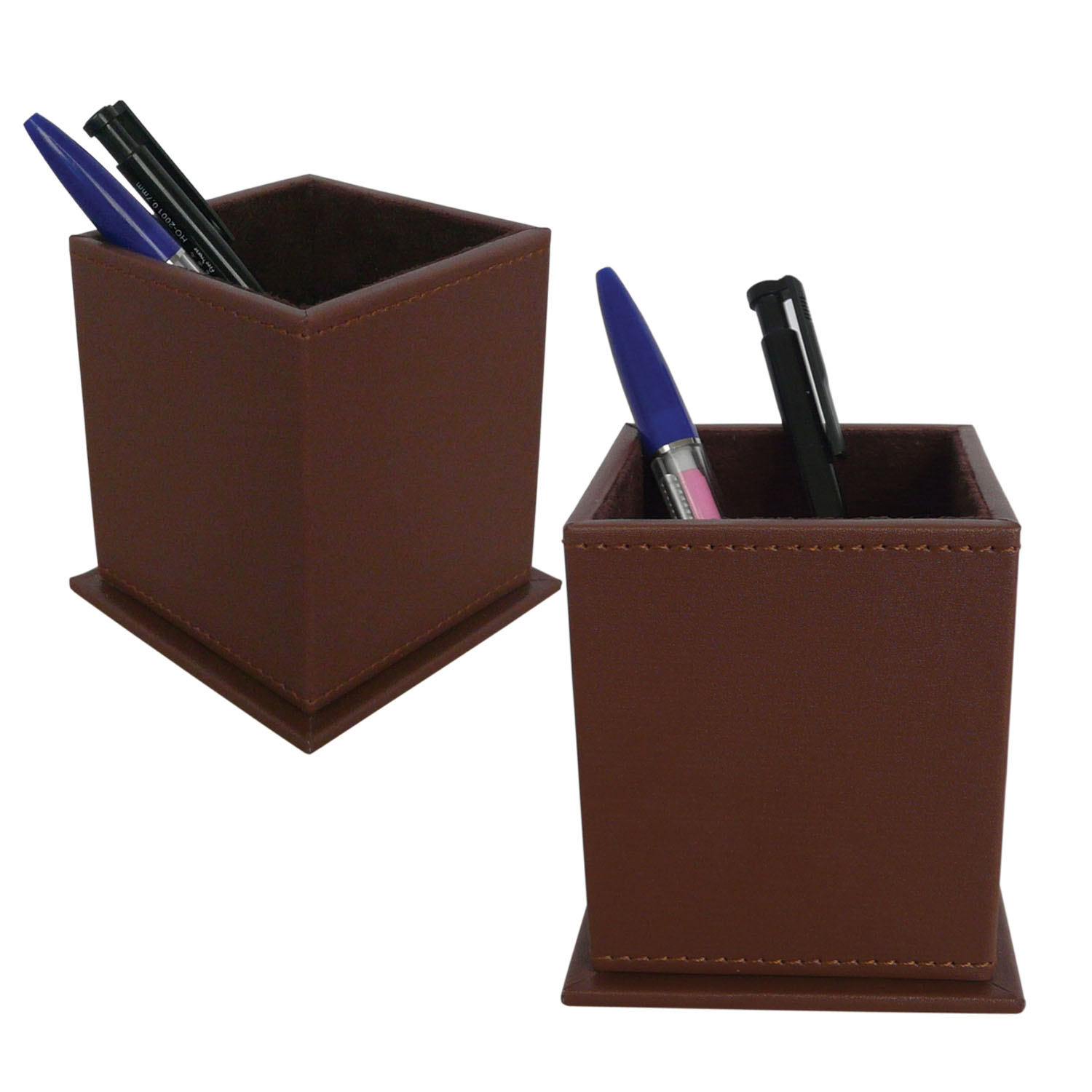 Round beatiful desk stationery storage holder for student