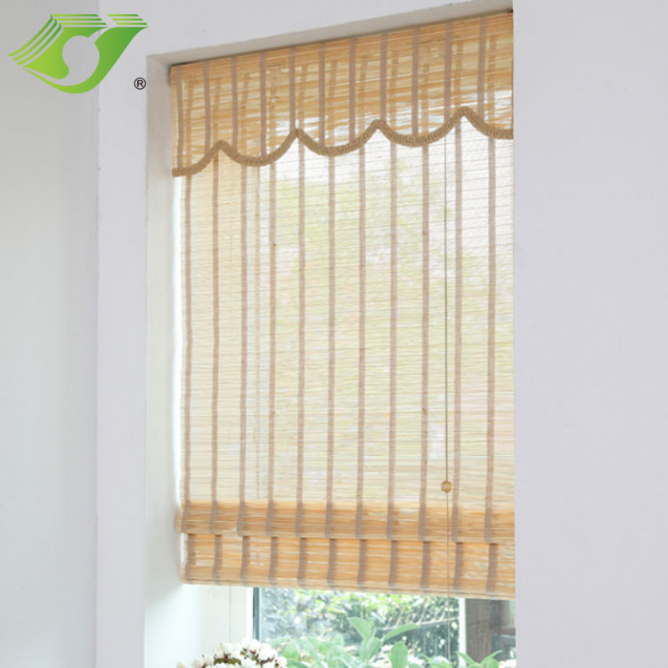 New style roll up window shade custom bamboo roman blinds
