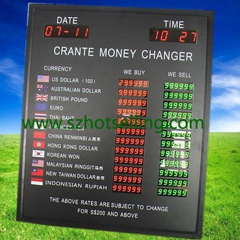China Bank Currency Exchange Rate Dual Color Led Display Screen Bands