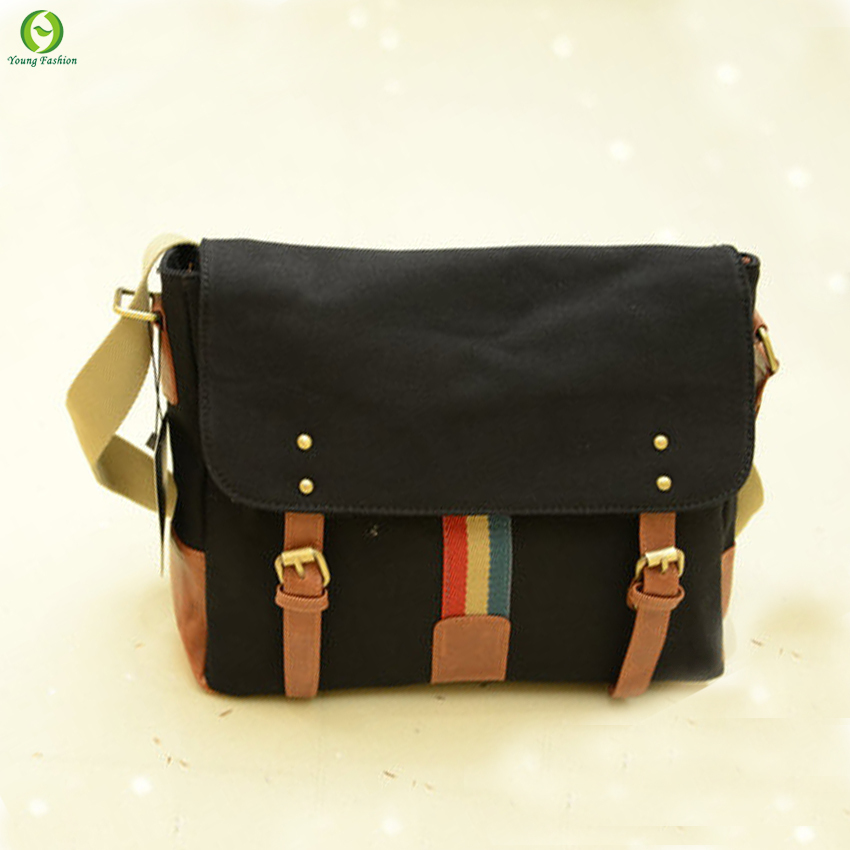 Fashion men messenger bags canvas Vintage men Shoulder bag hasp cover bag travel military cross body satchel new 2015