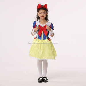 Halloween Fancy Princess Snow White Cosplay Party Costumes For Girls