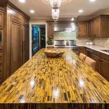 Fabulous Tigerauge Edelstein Marmor Arbeitsplatte Tische Badezimmer Küchen JZ36