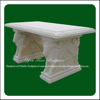 Outdoor Carved Marble Decorative Cheap Garden Bench