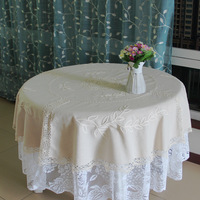 DeMi 276 wholesale Chinese Suppliers craft cotton off-white European style round tablecloth