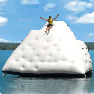 2019 Hot sale lake toys pvc inflatable iceberg ocean aquatic inflatables Climbing iceberg float water toy