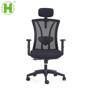 Modern ergonomic swivel office chair flexible mesh net back office chair with headrest