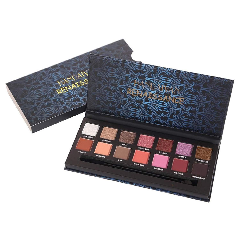 Mr.Macy Hot Sale HANDAIYAN 14 Colors Eye Shadow Makeup Pearl Metallic Eyeshadow Palette Makeup