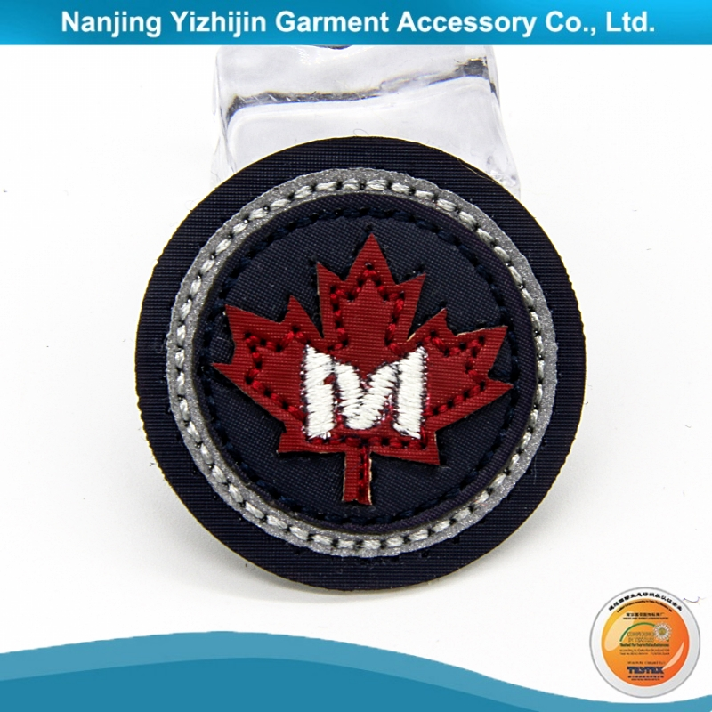 Custom service high quality fashionable bike embroidered patch